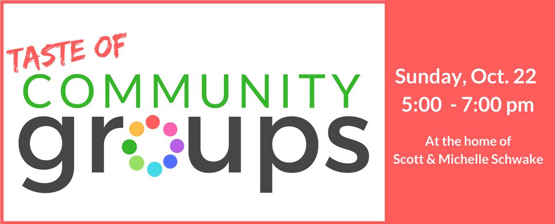 Taste of Community Groups