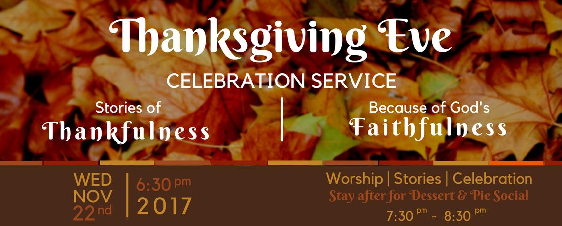 Thanksgiving Eve Celebration Service