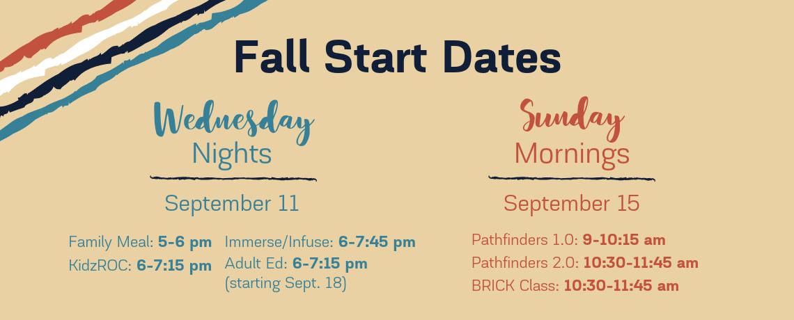Fall Start Dates