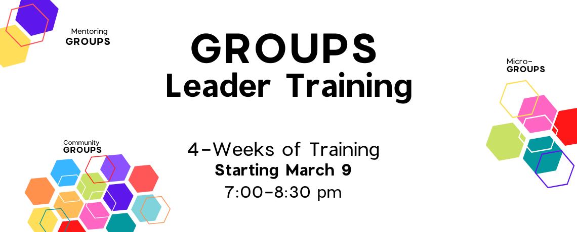 Groups Leader Training